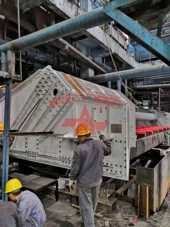 GJZKK4248 linear screen is installed in the field of coal washing plants.