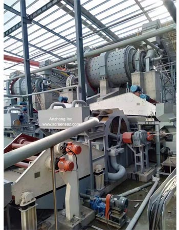 The sand washing and recycling integrated machines